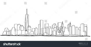 free hand sketch new york city stock vector 413671138 shutterstock