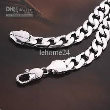 white necklace men images 2018 men 39 s 18k white gold filled necklace chain 52cm 62g hot sell jpg