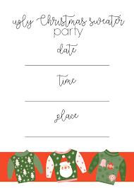 ginger snap crafts ugly christmas sweater party ideas u0026 printables