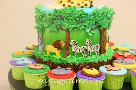 jungle theme cake my sugar creations 001943746 m jungle theme 1st birthday cake