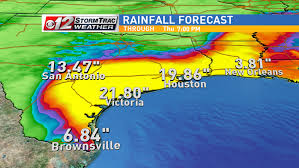 rainfall totals map t s harvey threatens with staggering rainfall wpec