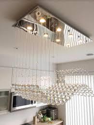 dining room crystal chandeliers modern rectangular crystal chandelier dining room length multiple