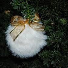 fur christmas brown faux fur christmas tree ornament by lovetosewstudio