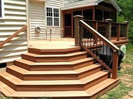 composite deck with flared stairs steps and stairs photo gallery