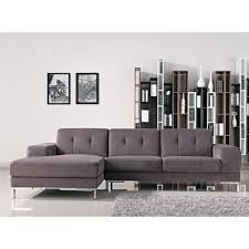 furniture l shaped grey tufted sectional sofa for living room
