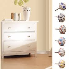 painted ceramic cabinet knobs 44mm hand painted ceramic handle bedroom cupboard cabinet knobs door