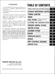 1990 suzuki samurai repair shop manual supplement original