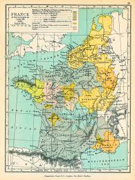 Provence France Map by Map Of France In 1461