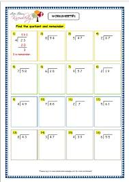 grade 3 maths worksheets division 6 4 long division with