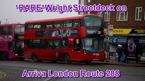 rare arriva london streetdeck sw10 on route 288 youtube