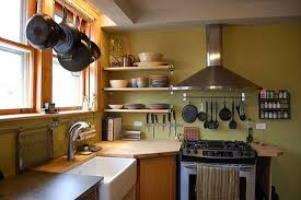 Hanging Pot Rack In Cabinet by Hanging Pot Rack Rustic Granite Counter Top High Gloss Cabinet