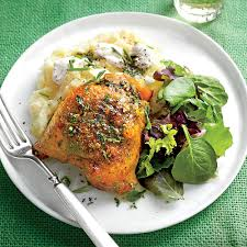 roasted chicken thighs with herb butter recipe myrecipes