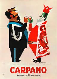 vintage martini illustration armando testa manifesto 1950 cinquanta pinterest