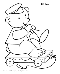 christmas toys coloring pages bear pull toy christmas coloring