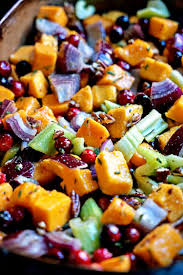 butternut squash for thanksgiving roasted butternut squash cranberries and celery with pecans