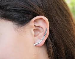 earrings that go up the ear up the ear earrings etsy
