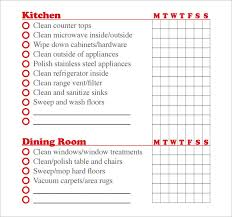 Commercial Kitchen Cleaning Checklist by Sample House Cleaning Checklist Daily House Cleaning Checklist