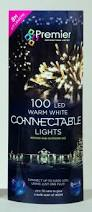 100 premier connectable outdoor or indoor led christmas lights in