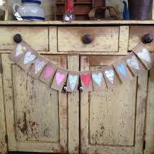 rustic wedding banners shabby chic burlap garlands