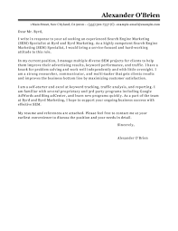 Market Research Analyst Cover Letter Examples Best Sem Cover Letter Examples Livecareer