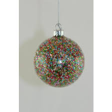 100mm glass baubles