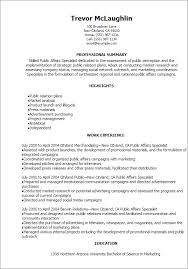 Market Research Resume Examples by Professional Public Relations Resume Samples Templates Public