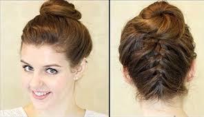 Frisuren Zum Selber Machen Schnell by Coole Frauen Dutt Frisuren Zum Selber Machen Haar Frisur Gestalten