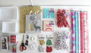 wrapping supplies the bed christmas gift wrapping station the organised