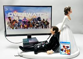 xbox cake topper wedding cake topper 0verwatch gamer xbox one ps4 custom