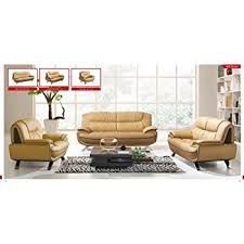 amazon com global furniture usa charles leather living room set