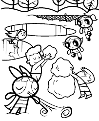 Powerpuff Girls Coloring Pages Coloring Pages For Kids Power Puff Coloring Page