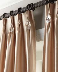 Neiman Marcus Drapes Polyester Curtain With The Look Of Silk Pinch Pleat Top With