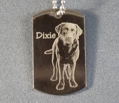 photo engraved dog tags 25 photo engraved dog tags pendant necklace key chain side
