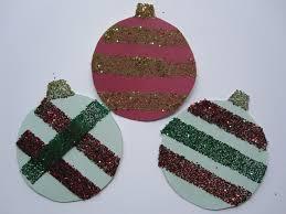 mess free glitter ornament