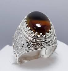 old rings silver images Natural sulemani aqeeq ring old aqeeq stone ring handmade etsy jpg