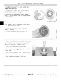 disassemble inspect and assemble front pto clutch john deere