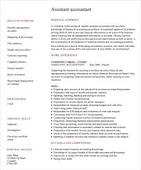 accounting resume templates sle accounting resume 6 documents in pdf