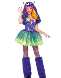 cheap scary halloween costumes purple green scary posh monster halloween costume with tutu