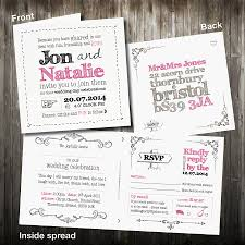 wedding invitations rsvp personalised sketch wedding invitation with rsvp by violet pickles