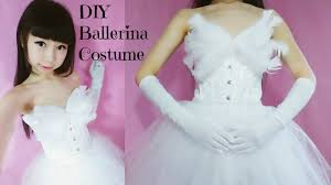 diy ballerina princess white swan costume no sew easy youtube
