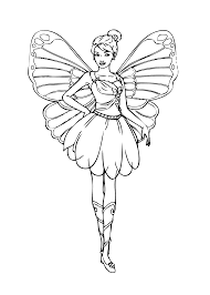 barbie fairy coloring page for girls printable free coloring 5
