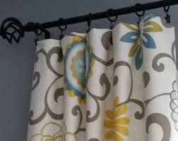Gray Blue Curtains Designs Blue Grey Curtains Etsy