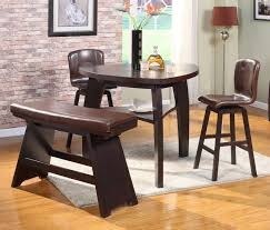 Brown Leather Chairs For Dining Triangle Dining Table Set Globe Black Transparent Pendant Lamps
