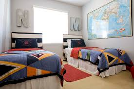 nautical headboard bedroom nautical theme in shared boys room with twin beds and