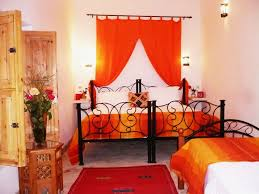 Turquoise And Orange Bedroom Bedroom Calm Minimalist Orange Bedroom Design With Low Paltfrom