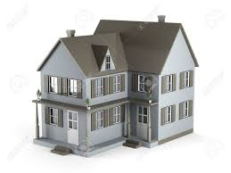 two storey house two storey house of gray color 3d graphics stock photo picture