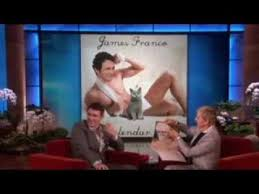 james franco and his cat calendar on ellen show youtube