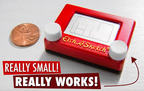 world u0027s smallest etch a sketch a working mini model of the