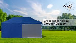 Folding Gazebo Bunnings by Craig 3x6m Folding Outdoor Gazebo Youtube