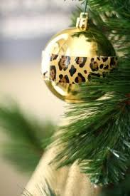diy cheetah print ornaments a